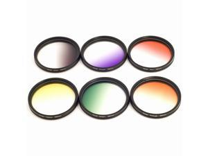 58mm Graduated Color Filter Kit Set for Canon EOS 60D 600D 650D 550D 500D LF140