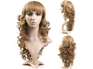 New Sexy Womens Girls Ladies Fashion Style Wavy Curly Long Hair Full Wigs MT54-NE1