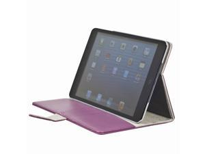 Magnetic card slot Stand PU Leather Smart cover Case for ipad Mini Rose PC349P