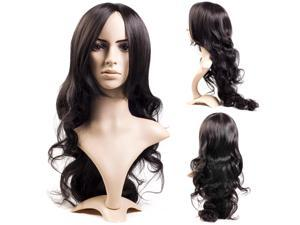 New Style Womens Girls Sexy Long Fashion Full Curly Hair Wig + Wigs Cap MT56