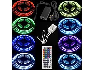 Set 10M LED Strip RGB 5050 SMD Light IR Remote Controller Power Adapter (UK PLUG)LD172