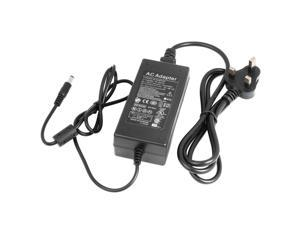 Power Supply Adapter AC100-240V to DC12V 5A 60W With UK Power Cord for LED (UK PLUG)LD182-NE1