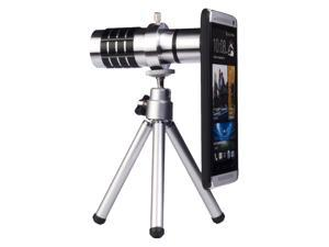 12X Manual Focus Aluminum Zoom Lens Tripod Case Kit For HTC One M7 DC354