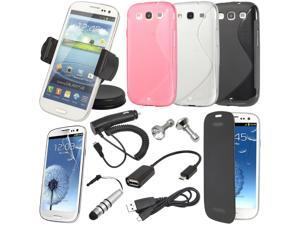 17in1 S-line Case Car Holder Charger Cable For For Samsung Galaxy S3 i9300 BC135-NE1