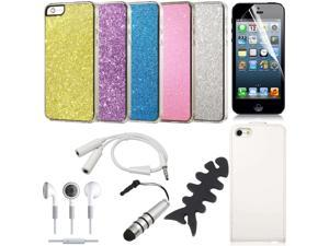 16 in 1 Bundle Set Kit Screen Protector Bling Case Cover For iPhone 5 BC225