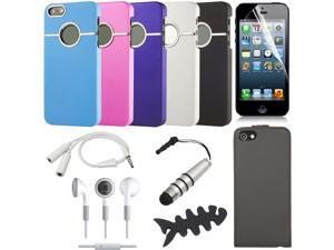 WholeSale 5pcs of 16in1 Bundle Set For iPhone 5 Bundle Set Flip Case Fashion Hard Case Cover BC223x5