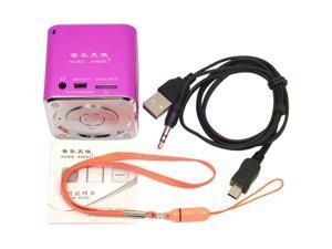 MUSIC ANGEL mini speaker fm radio TF for IPOD IPHONE 4 Usb Pc phone Pink IP46P