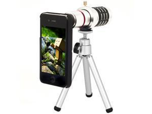 16x Detachable Aluminum Optical Zoom Lens Tripod Case For iPhone 5 5G DC372