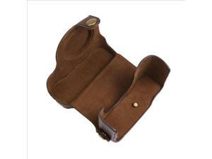 Leather Camera Case for Canon Powershot G15 Camera Coffee with Strap LF184K-NE1