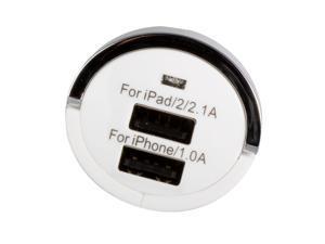 Brand New 3.1A 2 Port USB Mini Car Charger for Apple iPod iPhone iPad Samsung Galaxy Tab 10.1 P7500 P7510 P1000 P7300 BC72W-NE1