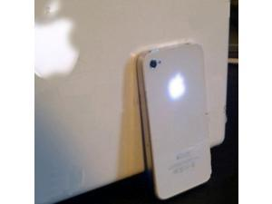 For iPhone 4S Back Cover Housing WHITE w/ Blue LED Glowing Logo Kit Mod Set RP41