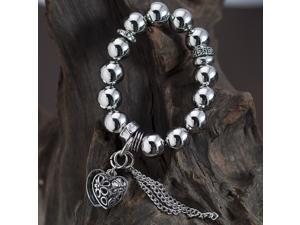 Silver Plated Charm Bracelet & Bangle B33