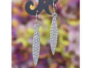 Swarovski 18k Gold Plated Dangle Earrings Crystal E10