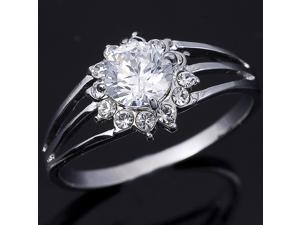 Gorgeous 6MM Round Brilliant Cut CZ special Ring R134 SZ9