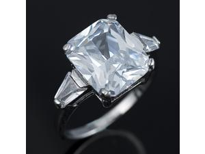 Classic Princess Cut CZ Ring R038 Size8