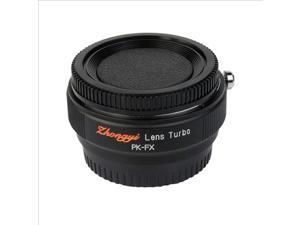 Focal Reducer Speed Booster Lens Turbo for Pentax K PK to Fujifilm X Body DC416