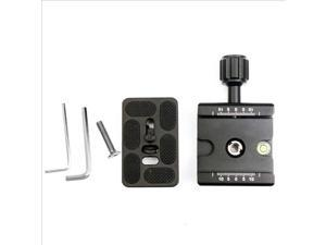 "Clamp With 1/4"" to 3/8"" Adapter + Quick Release Plate For Tripod Ball Head DC417"
