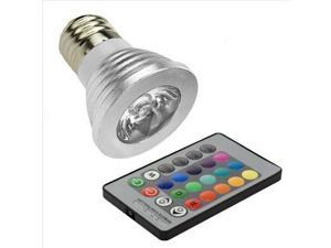 16 Color Changing RGB LED Spot Magic Light Top Bulb Lamp E27 5W IR Remote