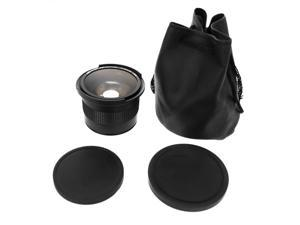 XCSource 58MM 0.35x Fisheye + Wide Angle + Macro Lens for EF-S 18-55mm 55-250mm 50mm Canon 5D Mark II III 300D 350D 450D ...