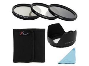 XCSource UV CPL ND4 Filter Set + Lens Hood 77mm For Canon 700D 650D 600D 550D 1000D LF286