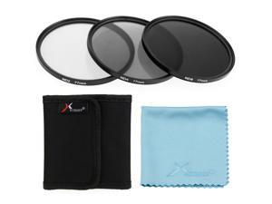 XCSource 3pcs 77mm ND2 ND4 ND8 Neutral Density Filter for Camera Canon 5D 6D 7D 70D