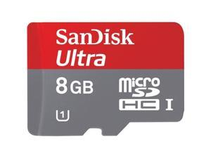SanDisk 8 GB Mobile Ultra Micro SDHC SD UHS-I Memory Card 30 MBps Class 10 C10 with retail package + Adapter HK034-NE1