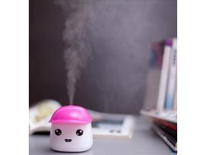 Cute Portable Compact Mini USB Office Bedroom Humidifier Air Purifier Pink HS97-NE1