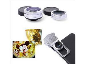 For iPhone 5 5S 5G 6 Detachable Wide Angle Macro + Fish Eye Lens 3in1 Set DC479
