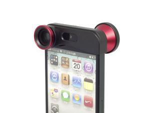 XCSOURCE® 3 in 1 Detachable Fisheye Lens + Wide Angle + Micro Lens Photo Kit Set for iPhone 5 5G 5S