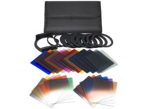 XCSOURCE® 34 in 1 for Cokin P Gradual + Full Color Filter + 2 Cases + 10 Adapter Set LF78