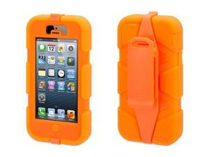 Griffin Fluoro Orange Heavy Duty Survivor Case for iPhone 5/5s   Military-Duty Case w/ Belt Clip for iPhone 5s