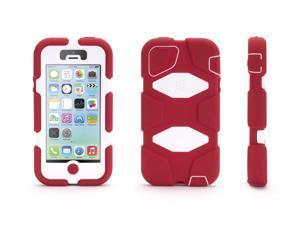 Griffin Crimson/White Heavy Duty Survivor All-Terrain Case for iPhone 5/5s   Military-Duty Case