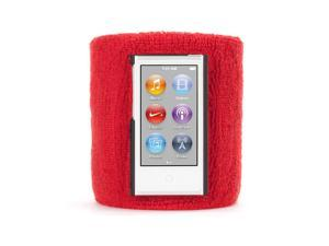 Griffin RE36646 SportCuff Wristband Case, Absorbent wristband for iPod nano (7th gen.) - Red