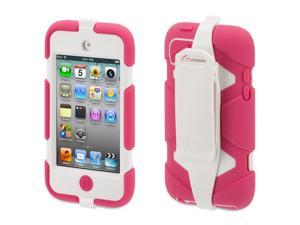 Griffin Pink/White Heavy Duty Survivor All-Terrain Case + Belt Clip for iPod touch (4th gen.)   Extreme-duty case for 4th ...
