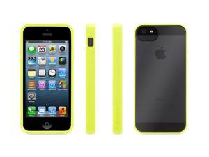 Griffin Reveal Protective Clear Case with Citron Trim for iPhone 5/5s   Ultra-thin hard-shell See-Through Case