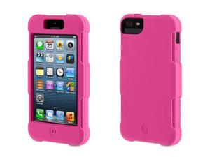 Griffin Pink Survivor Skin Protective Case for iPhone 5/5s   6-foot drop protection from a silicone skin.