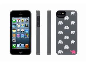Griffin Grey/Pink Elephants Hard Shell Case for iPhone 5   Hard shell case for iPhone