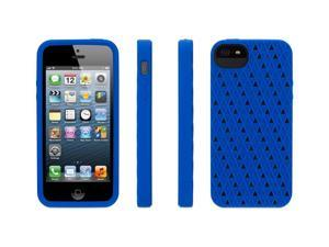 Griffin Blue Silicone FlexGrip Punch Case for iPhone 5/5s   Flexible sculptured perforated silicone case