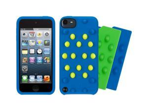 Griffin Blue Funky Touch Case w/ Green & Citron Inserts for Touch 5th Gen