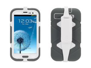 Griffin Grey/White Survivor with Belt Clip for Samsung Galaxy SIII   Military-Duty Case