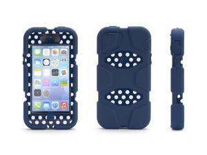 Griffin Blue/ Polka Dots Heavy Duty Survivor Case for iPhone 5/5s   Military-Duty Case