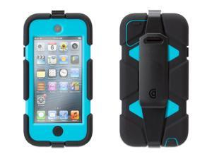Griffin Black/Pool Blue Heavy-Duty Survivor Case with belt clip for iPod touch 5th gen.   Extreme-duty case