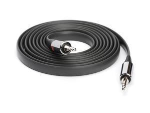 Griffin 6 Ft Flat AUX Cable in Black   Extra Long Auxiliary Cable