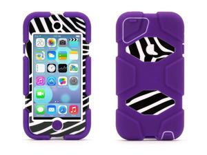 Griffin Purple/Zebra Survivor All-Terrain Protective Case for iPod touch (5th gen.)   Extreme-duty case