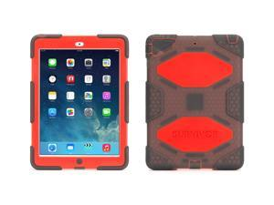 Griffin Smoke/Red Survivor All-Terrain Case + Stand for iPad Air   Military-Duty Case with Stand