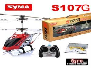 SYMA S107 3CH Remote Control Metal Gyro Helicopter (Red)