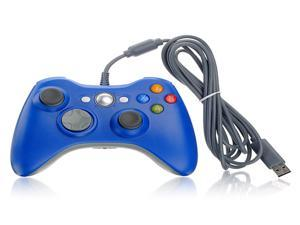 USB Dual Shock Wired Controller Gamepad Joystick Jaypad for Microsoft Xbox 360 PC Blue