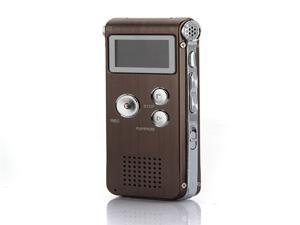 Coffee Digital Rechargeable 8GB 650Hr USB2.0 Audio Voice Recorder Dictaphone MP3 Player FM