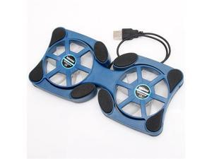 "Mini Foldable USB 2.0 Cooling Pad 2 Fan for  for 12"" - 17"" Inch PC Laptop Green  blue black"