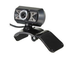 30M HD Video USB Webcam Camera With Microphone 4-LED light for PC Laptop Desktop